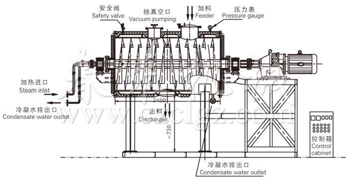 真空耙式干燥机结构示意图